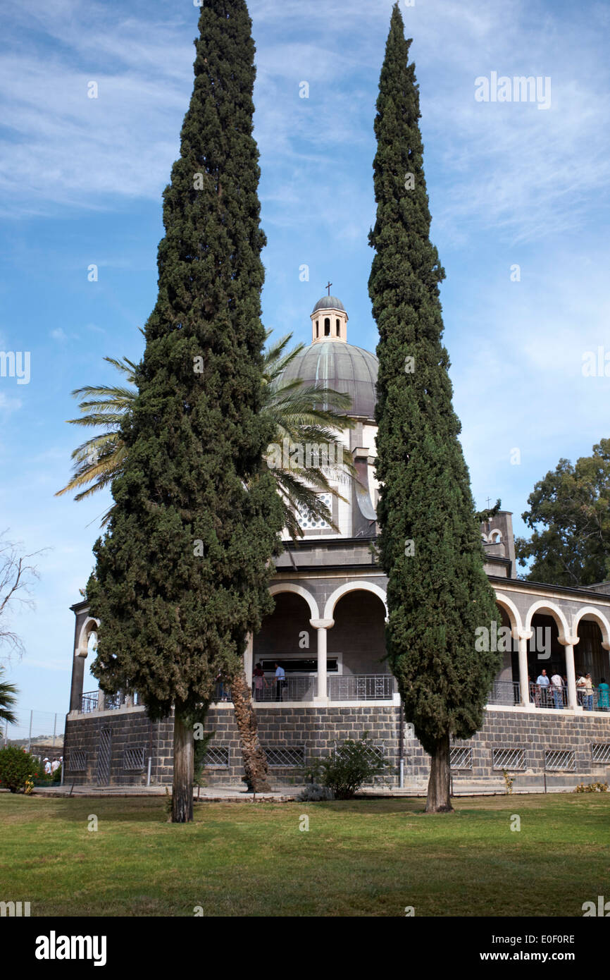 Church of the Beatitudes, near Taghba and Capernaum, Israel Stock Photo