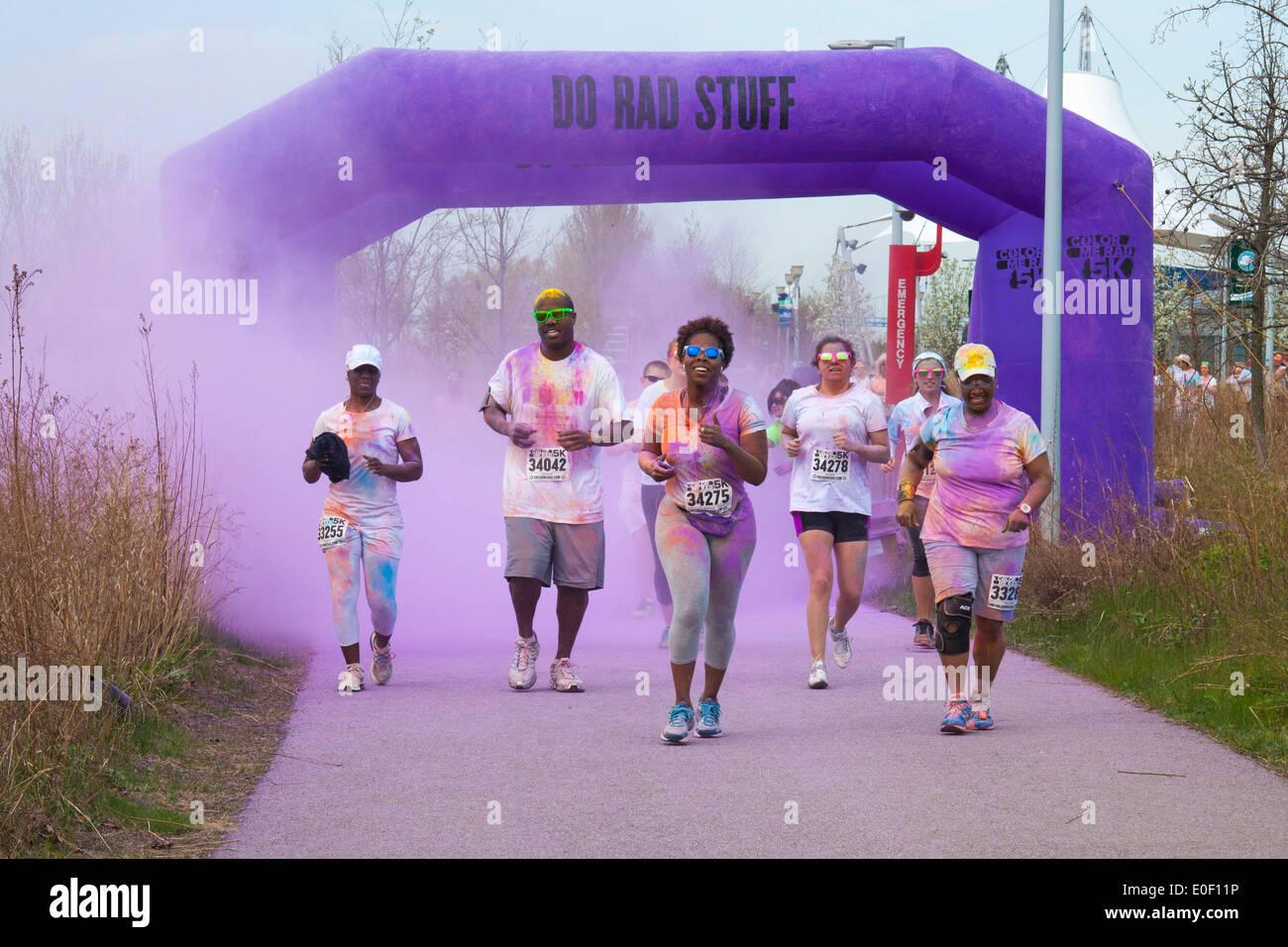 'Color Me Rad' 5K Run/Walk - Stock Image