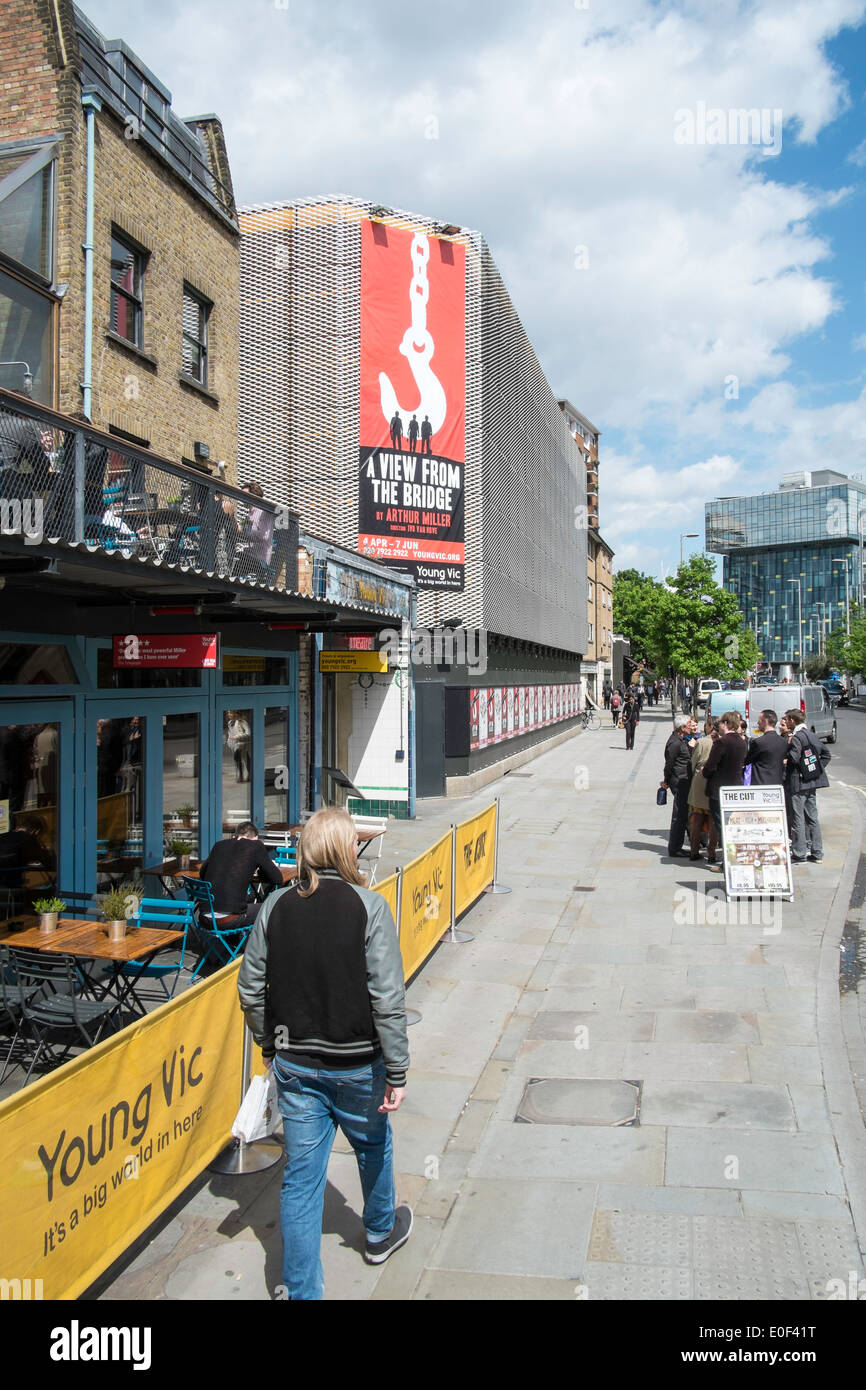 Old Vic Theatre, The Cut, Waterloo, London, United Kingdom - Stock Image