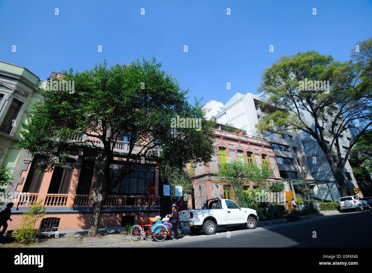 Zona Rosa neighborhood of Mexico City, Mexico Stock Photo