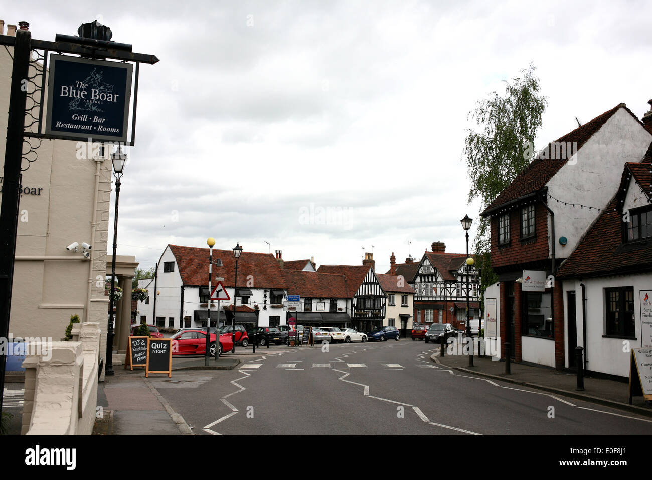 the village of abridge in county of essex uk 2014 - Stock Image