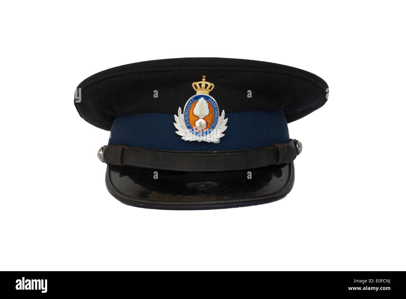 Clothing of the dutch military police, close-up - Stock Image