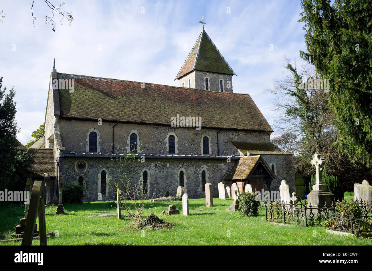 Davington Church at Faversham, Kent Stock Photo