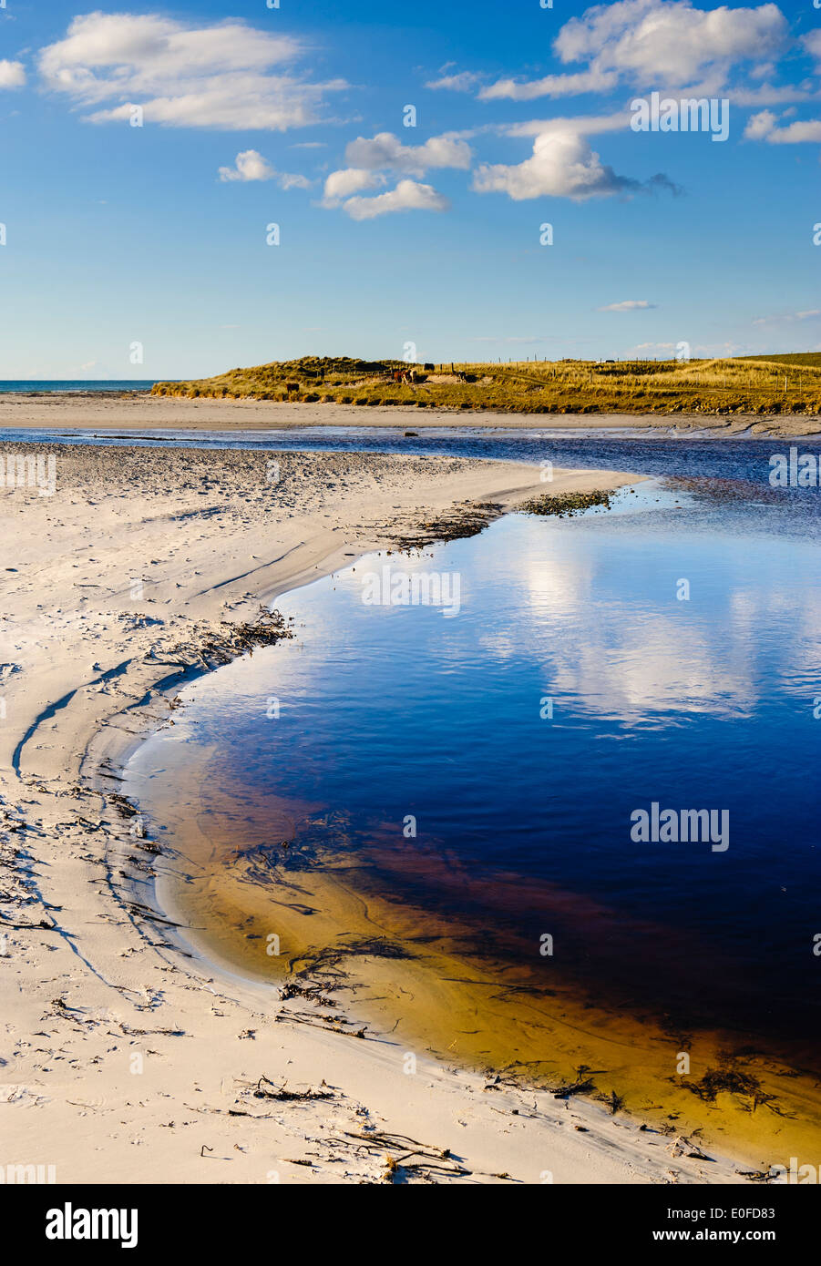 A beach on Isle of South Uist, Outer Hebrides, Scotland - Stock Image