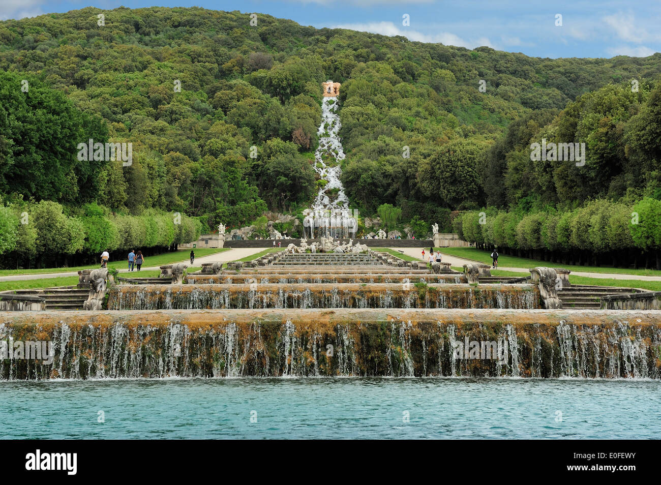 garden of the royal residence of Caserta, Italy Stock Photo