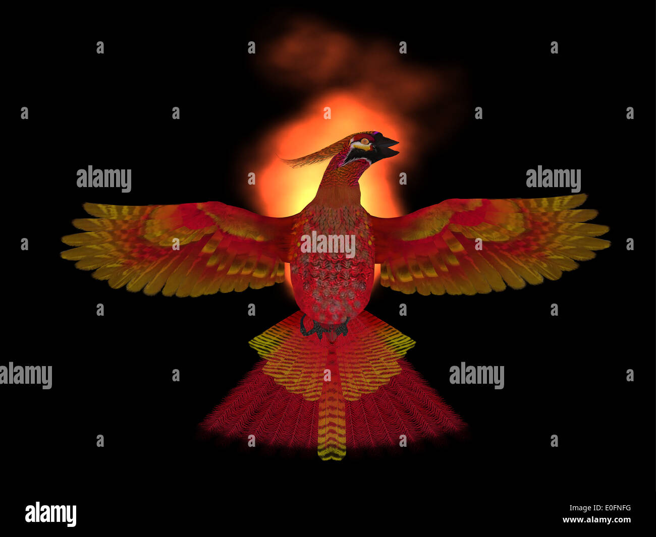 the phoenix bird is a symbol of new beginnings and rising from ashes