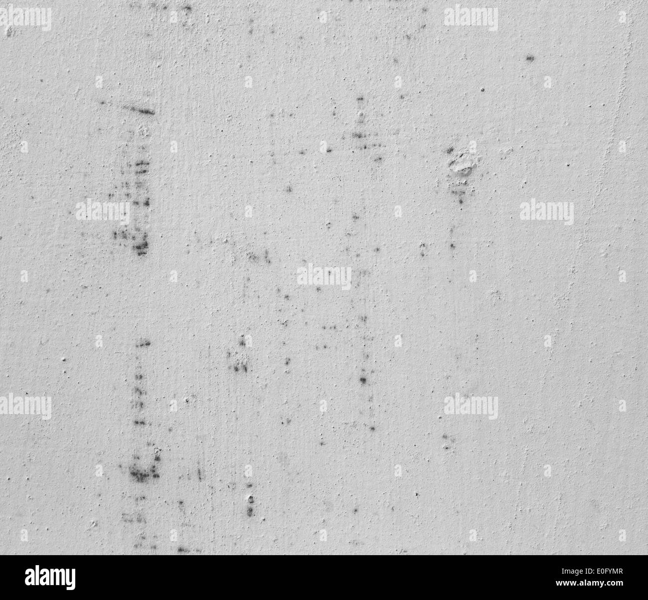 Grey abstract background. White painted iron old wall(monochrome photo). - Stock Image