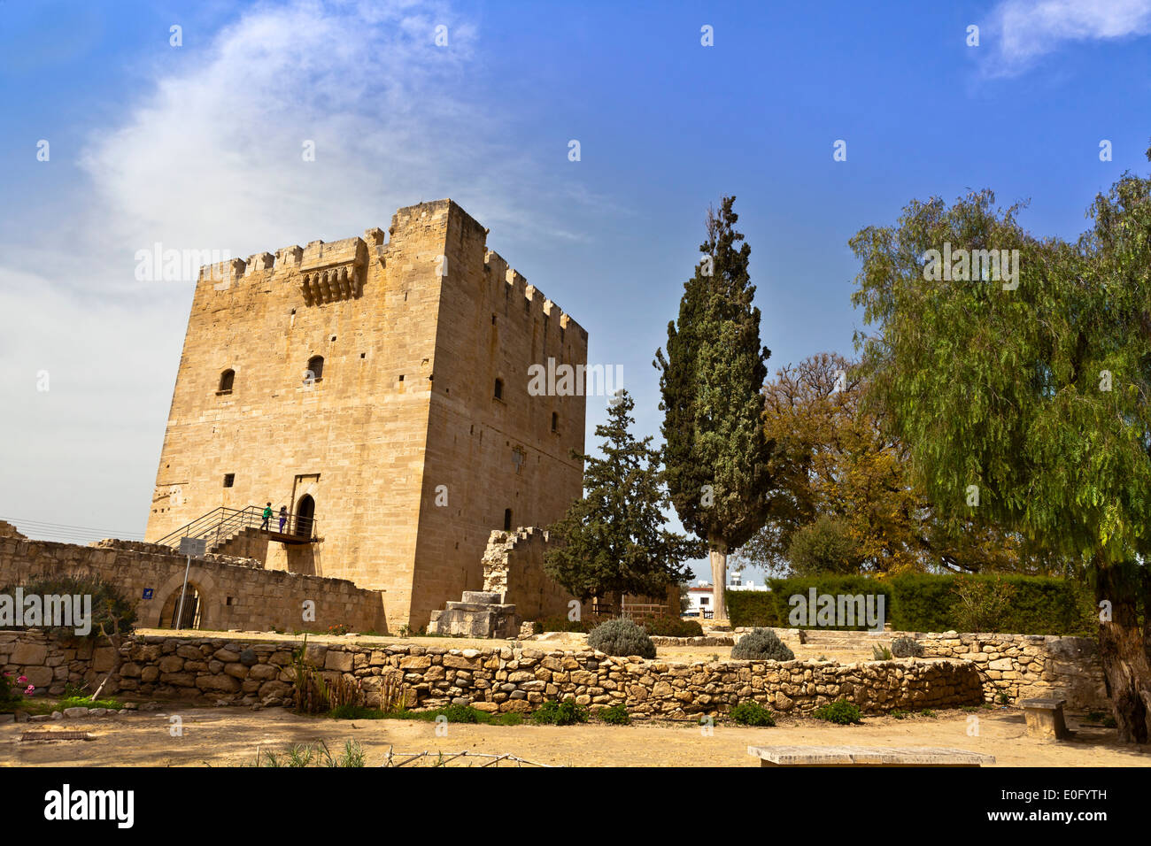 The medieval castle of Kolossi near Limassol in Cyprus. - Stock Image