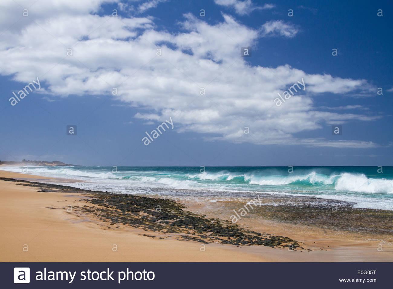 Papohaku Beach on Molokai, Hawaii - Stock Image