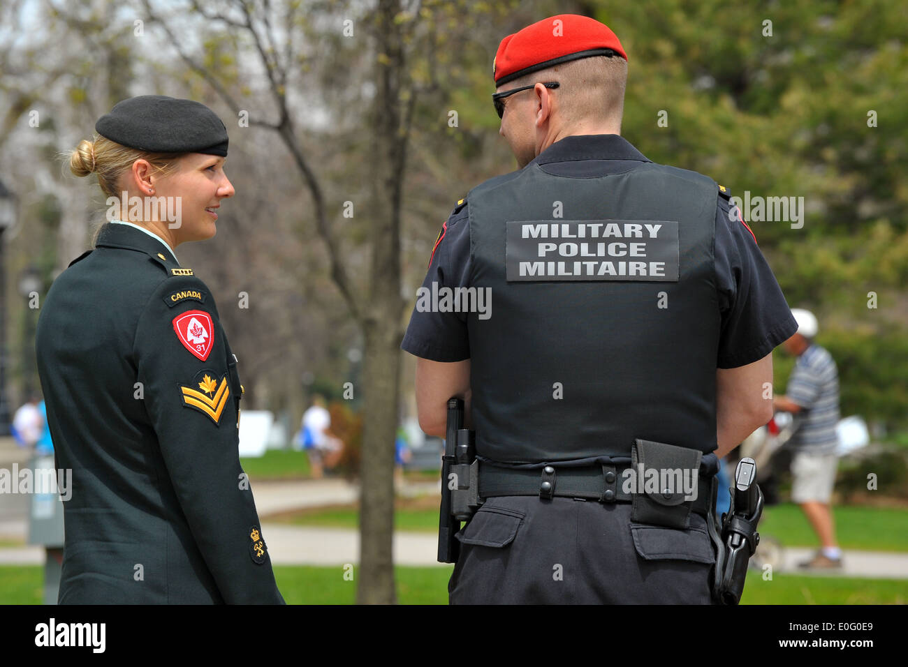 Canada Military Police Stock Photos & Canada Military Police Stock