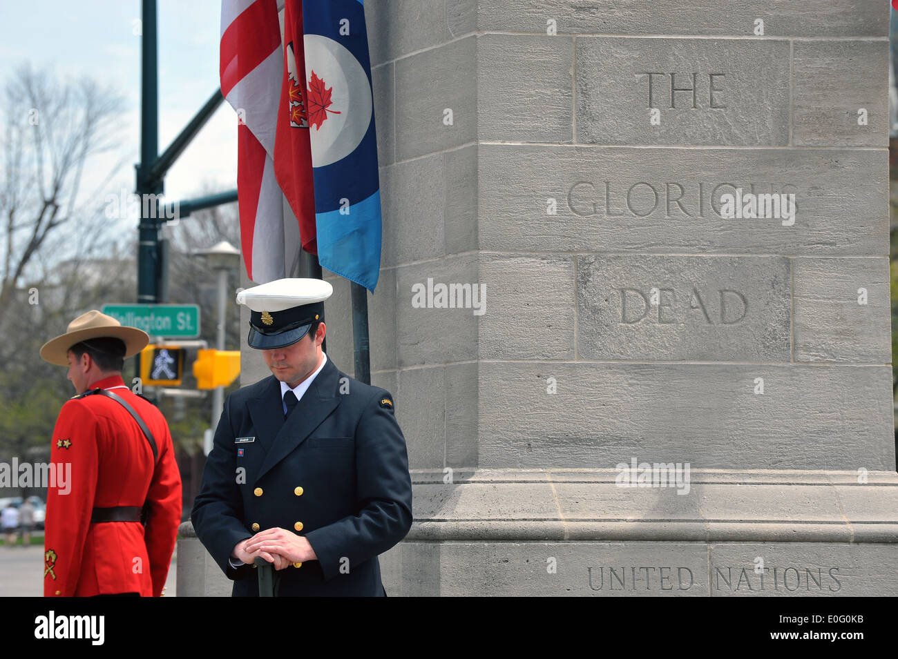 Images from the Canadian National Day of Honour an event to remember the Canadians who died in the Afghanistan conflict. - Stock Image