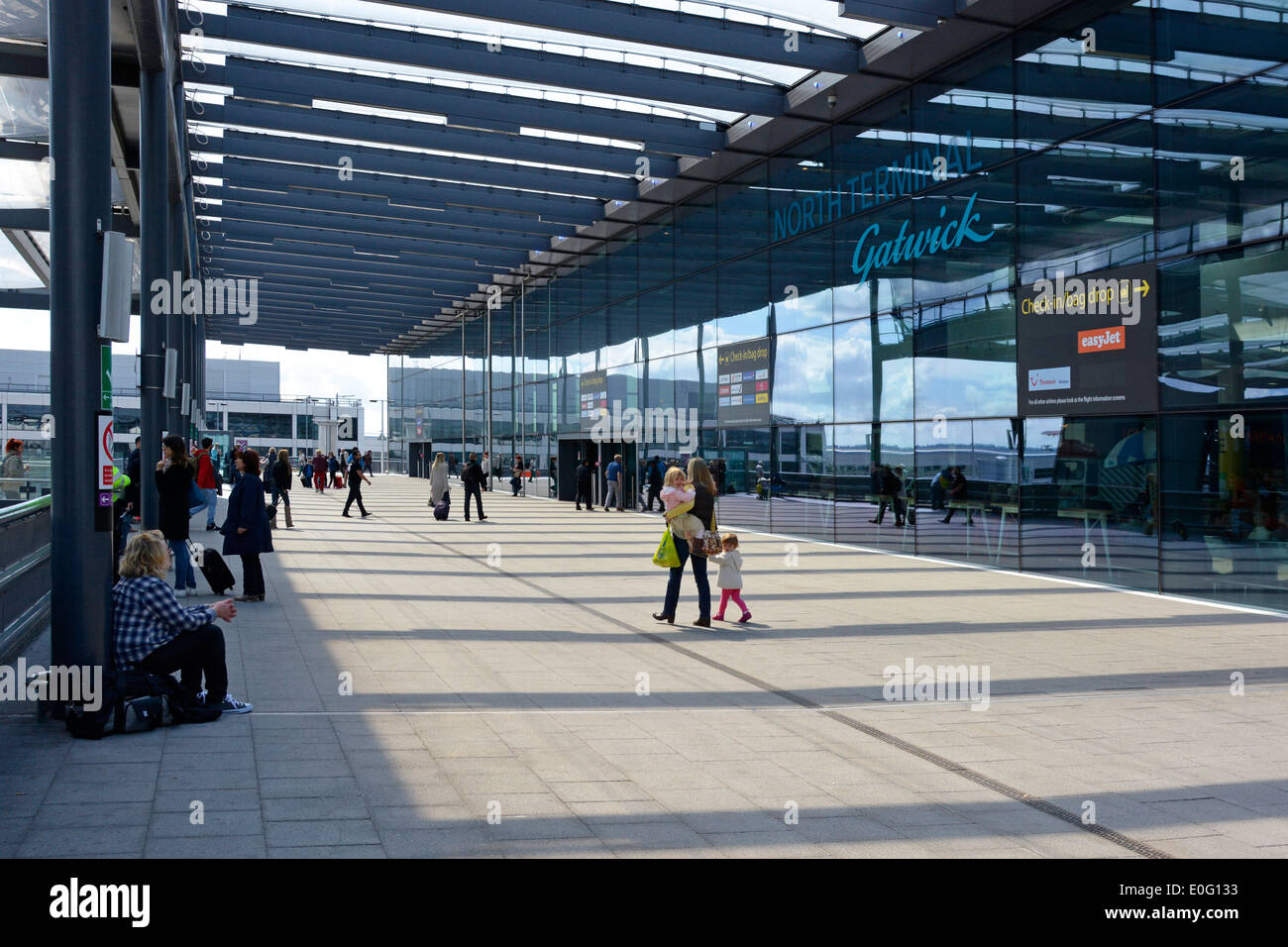 London Gatwick Airport North Terminal entrance - Stock Image