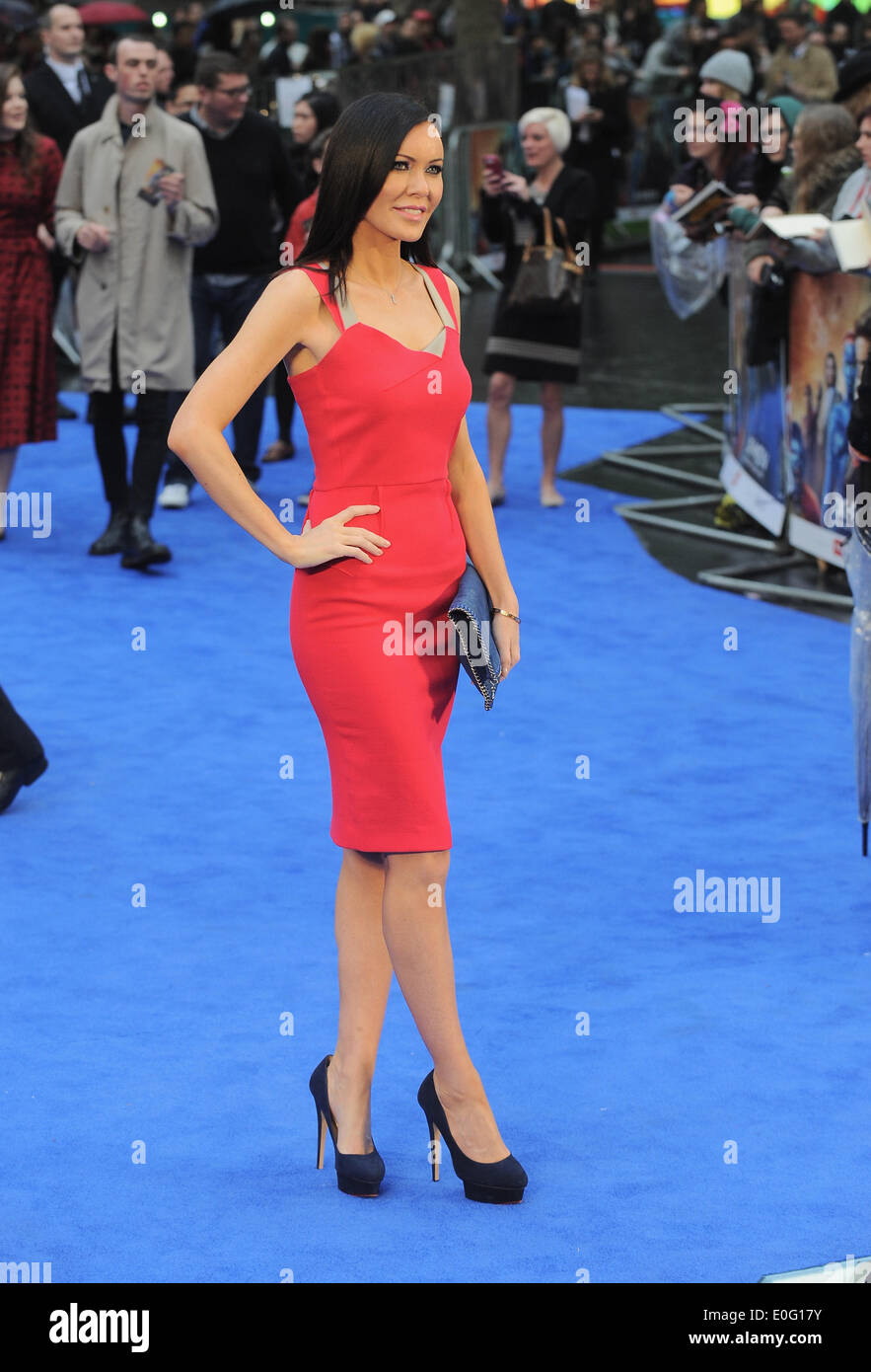 London, UK, UK. 12th May, 2014. Linzi Stoppard arrives for the UK Premiere of 'X-Men: Days Of Future Past' at Odeon Leicester Square. Credit:  Ferdaus Shamim/ZUMA Wire/ZUMAPRESS.com/Alamy Live News - Stock Image
