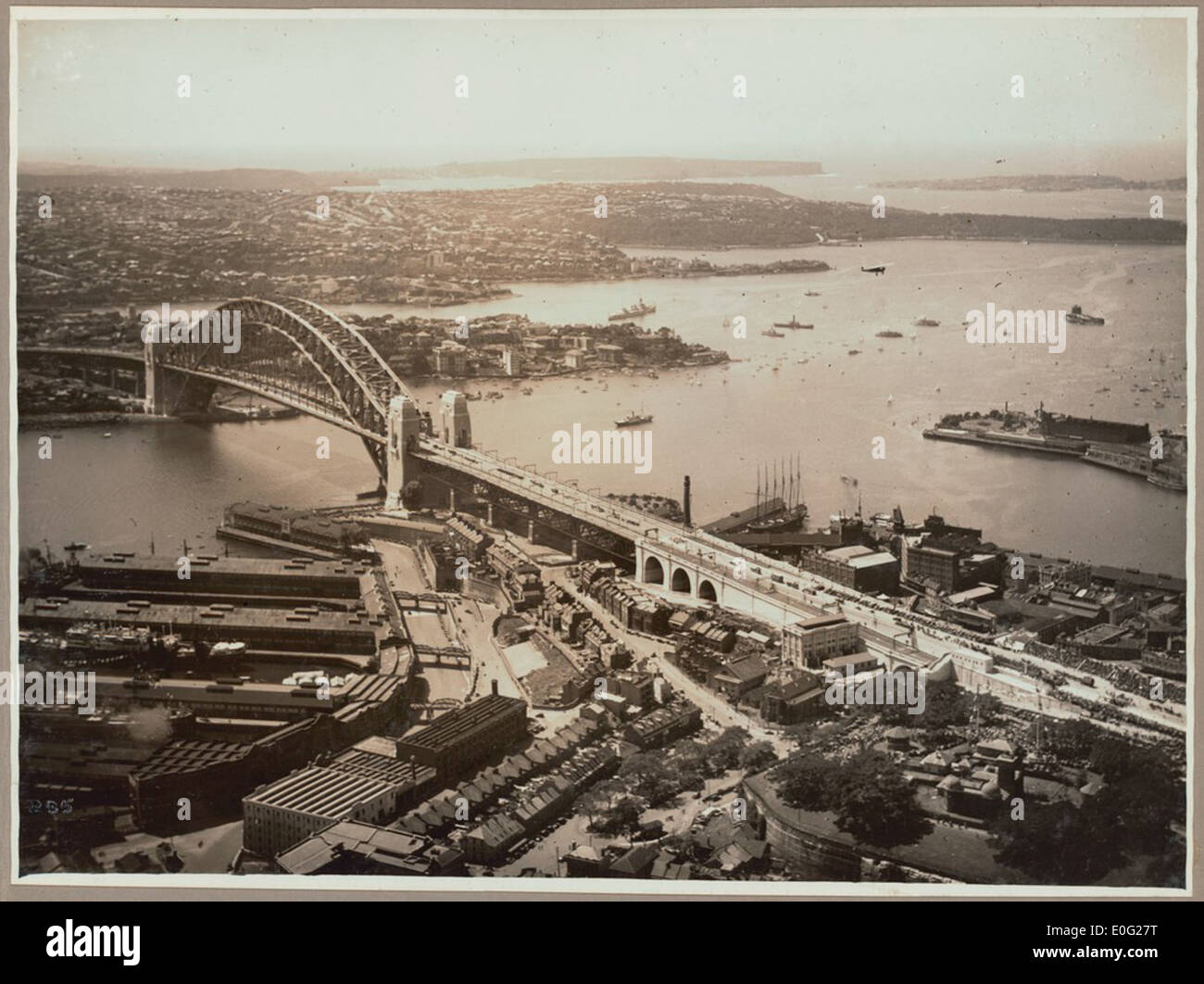 Sydney Harbour Bridge from Dawes Point, 19 March, 1932 - Stock Image