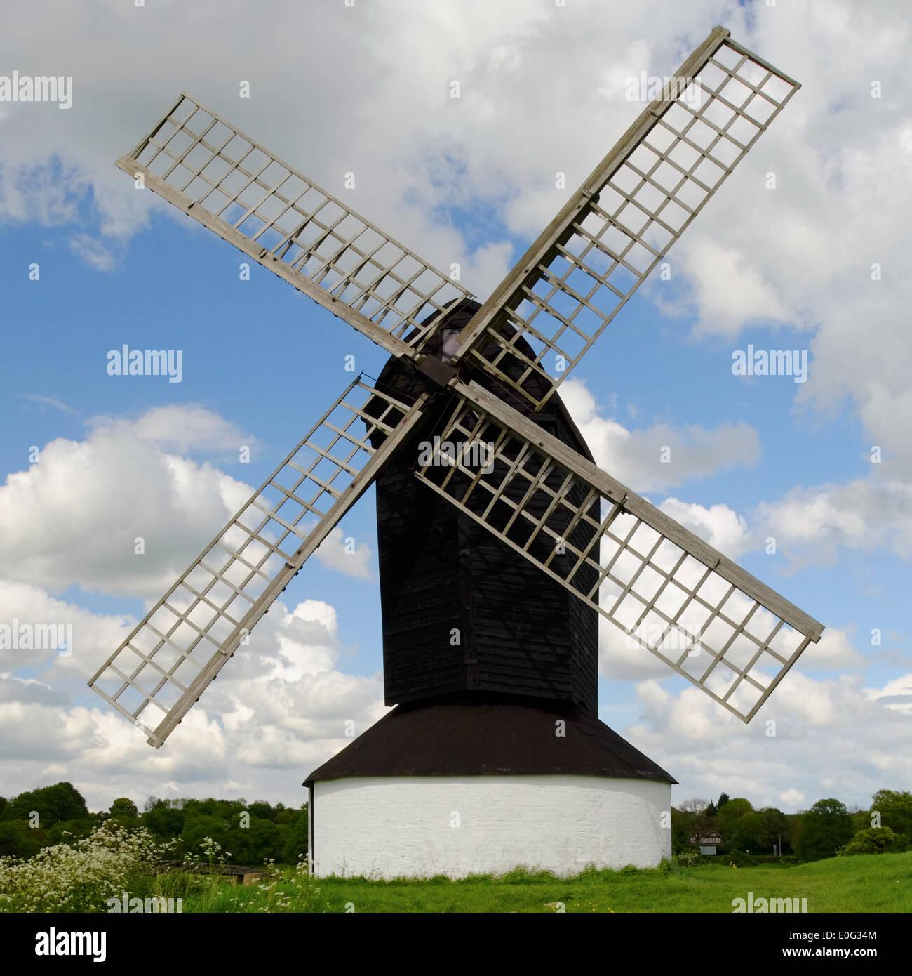 Pitstone Windmill near Ivinghoe Hills - Stock Image