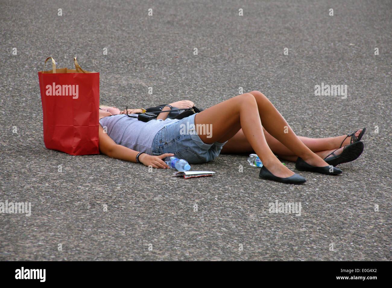 'Tourists; ', 'Touristen; ' - Stock Image