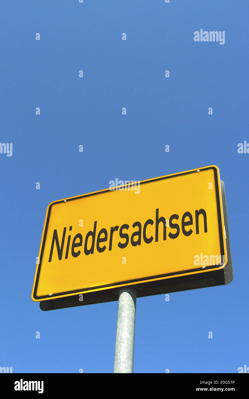 sign Lower Saxony, Niedersachen - Stock Image