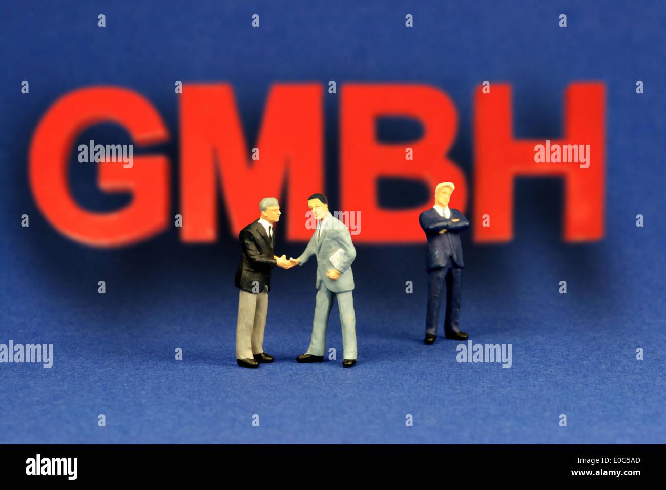 Gmbh and figures, company, companies, company form, company foundation, company foundation, branch, branches, company, companies - Stock Image