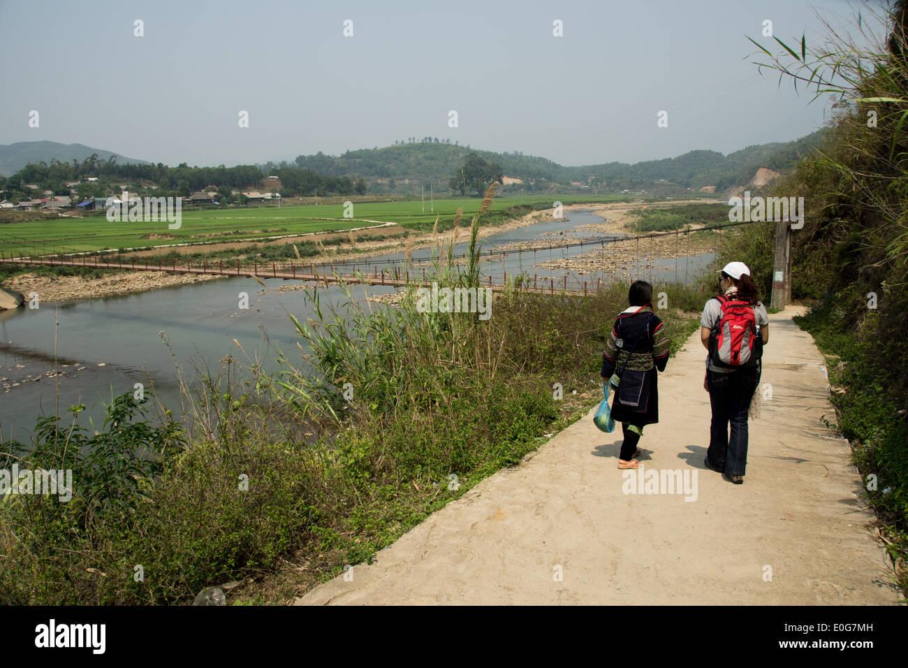 Hiking in Sapa - Stock Image