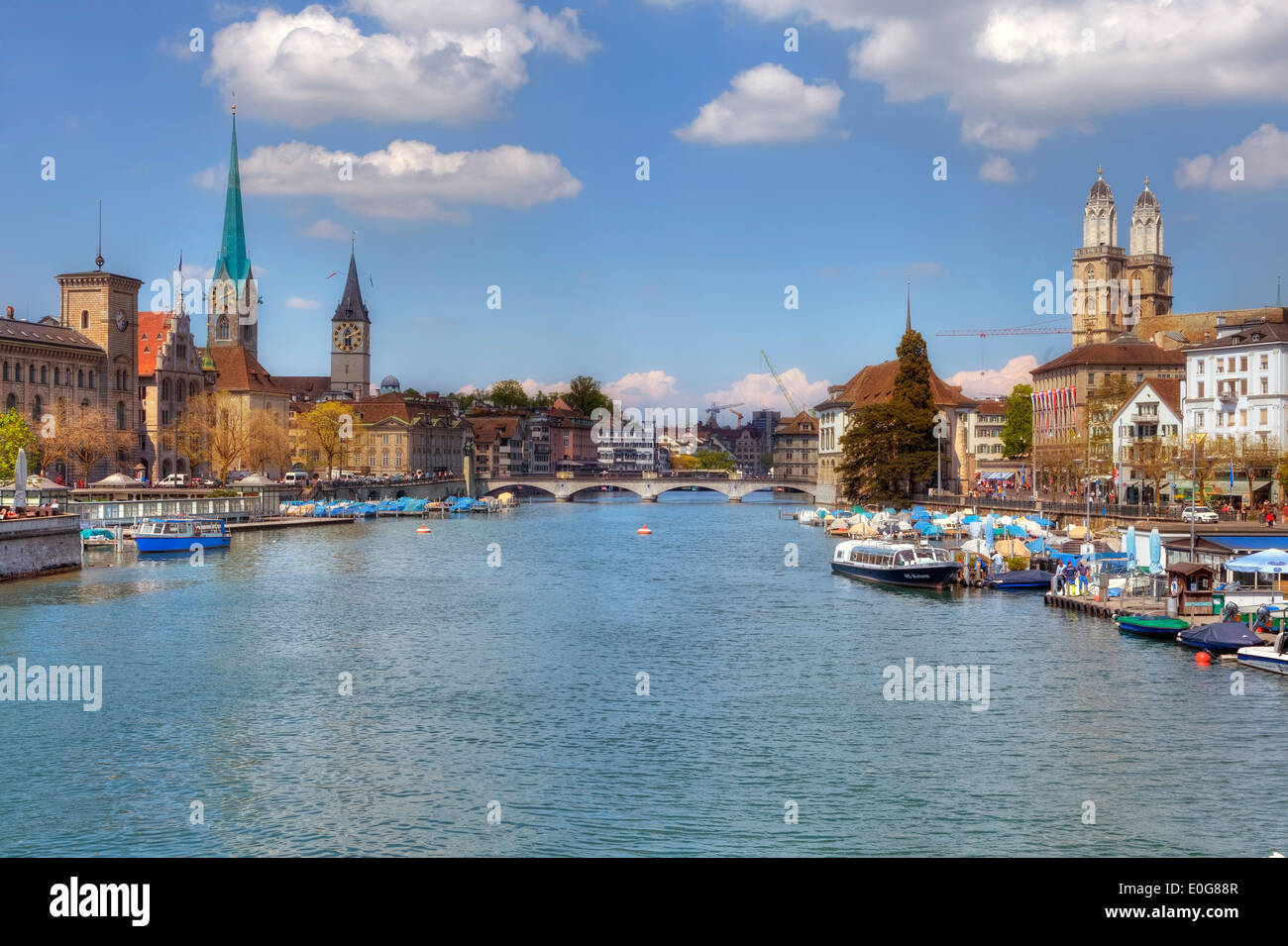 Zurich, old town, Switzerland - Stock Image