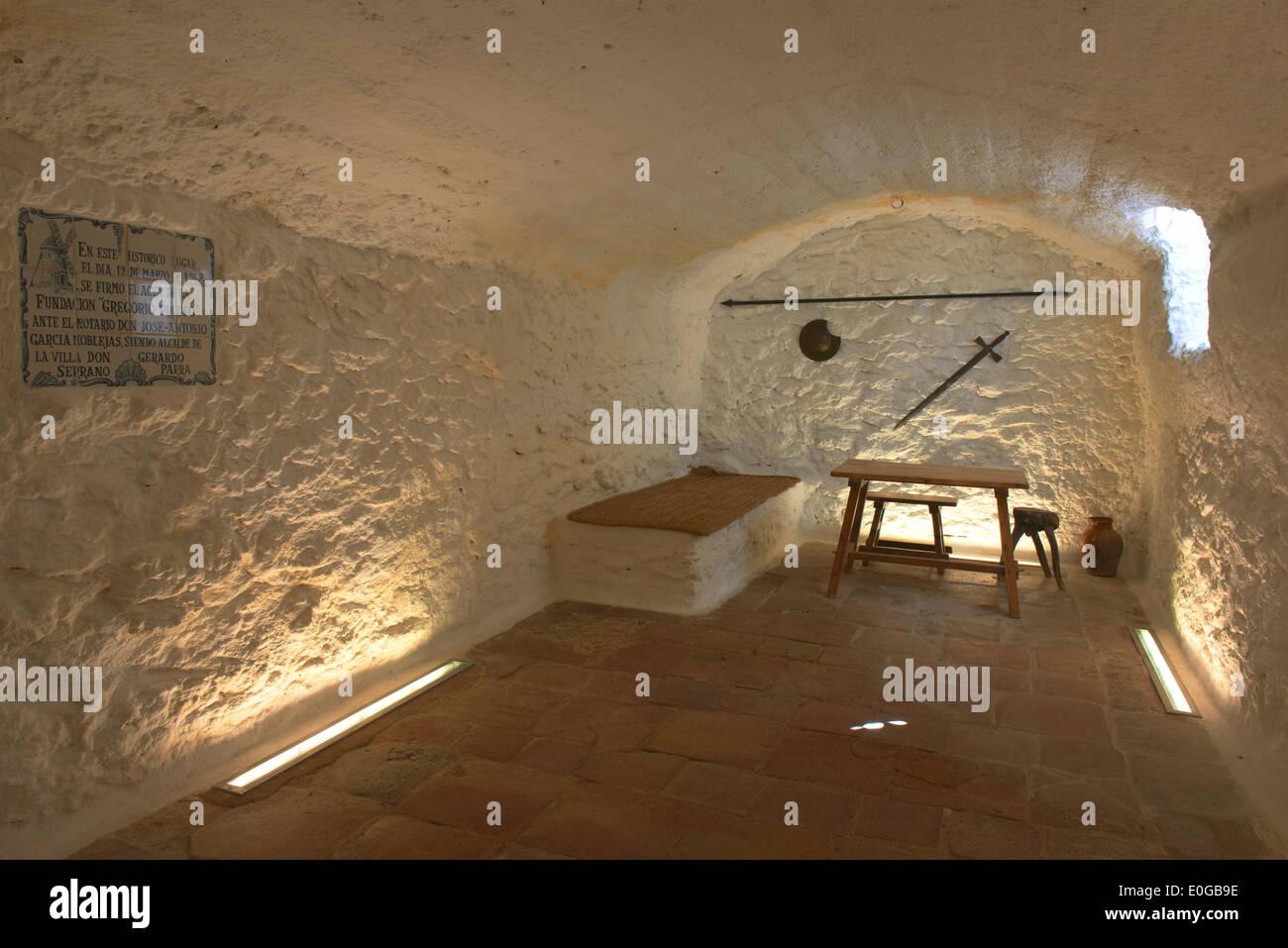 Cueva de Medrano, That is supposed to be Miguel de Cervantes' prison, Argamasilla de Alba,Ciudad Real province, Castilla-La Manc - Stock Image