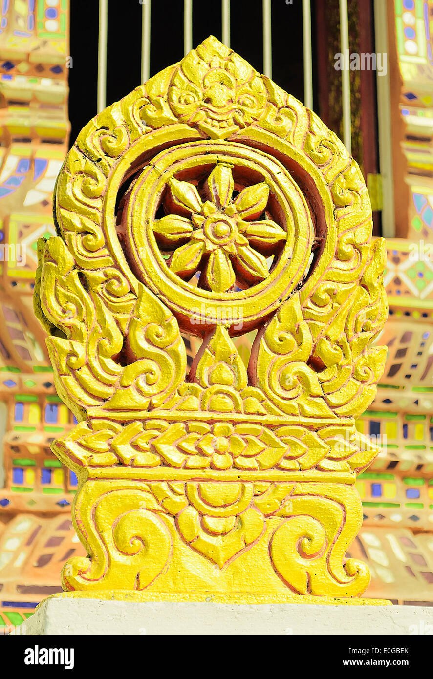 The stone boundary markers(at the eight cardinal points around a bot) of Temple called 'Sema'. - Stock Image