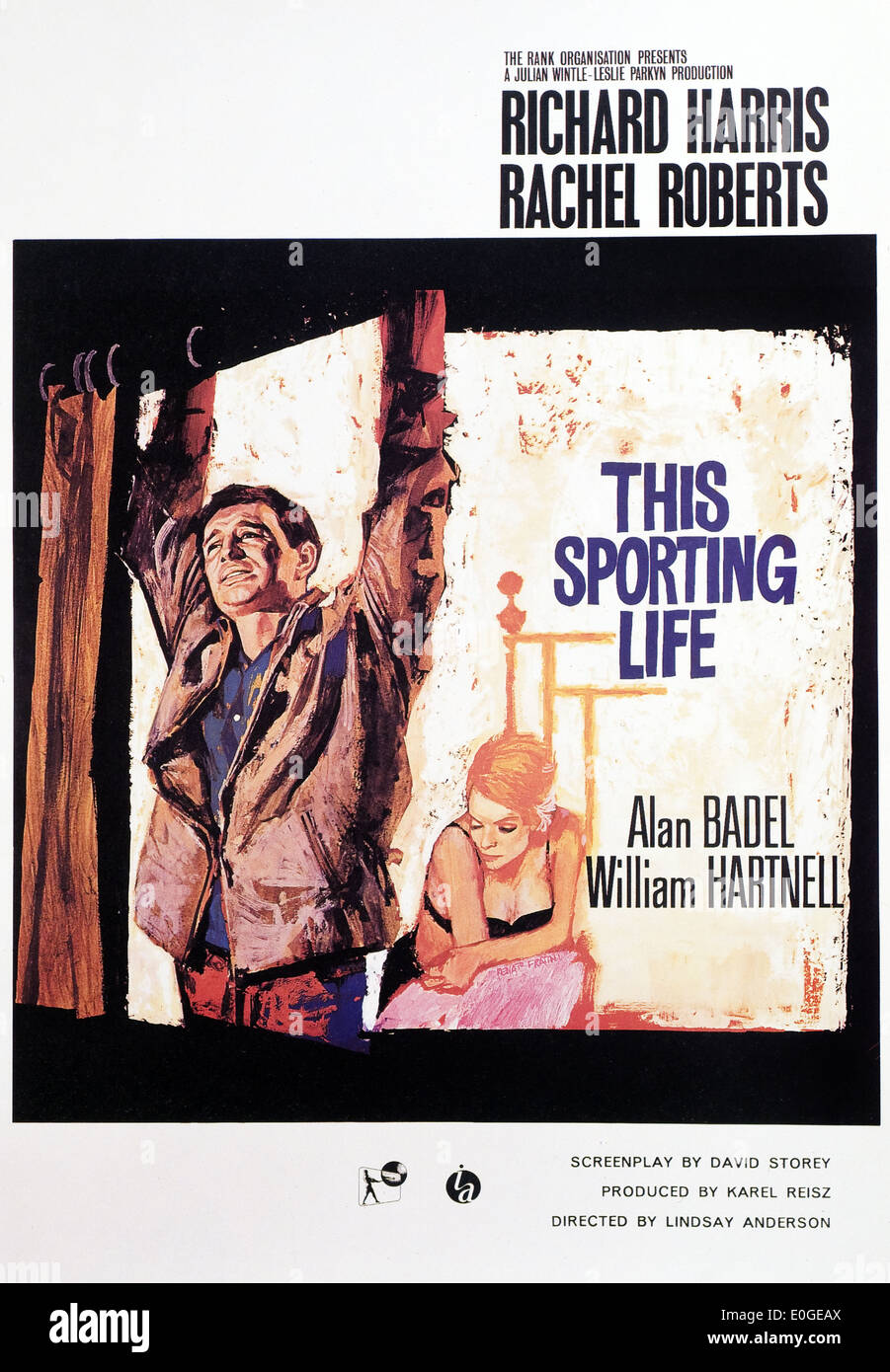 This Sporting Life - Original Movie Poster - Stock Image