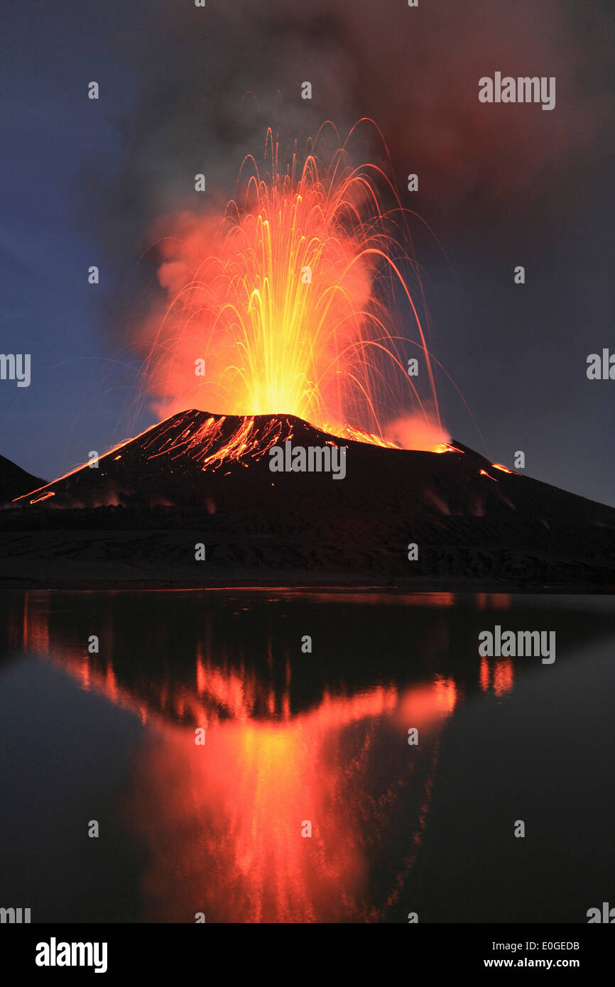 Tavurvur Volcano, Rabaul, East New Britain, Papua New Guinea, Pacific - Stock Image