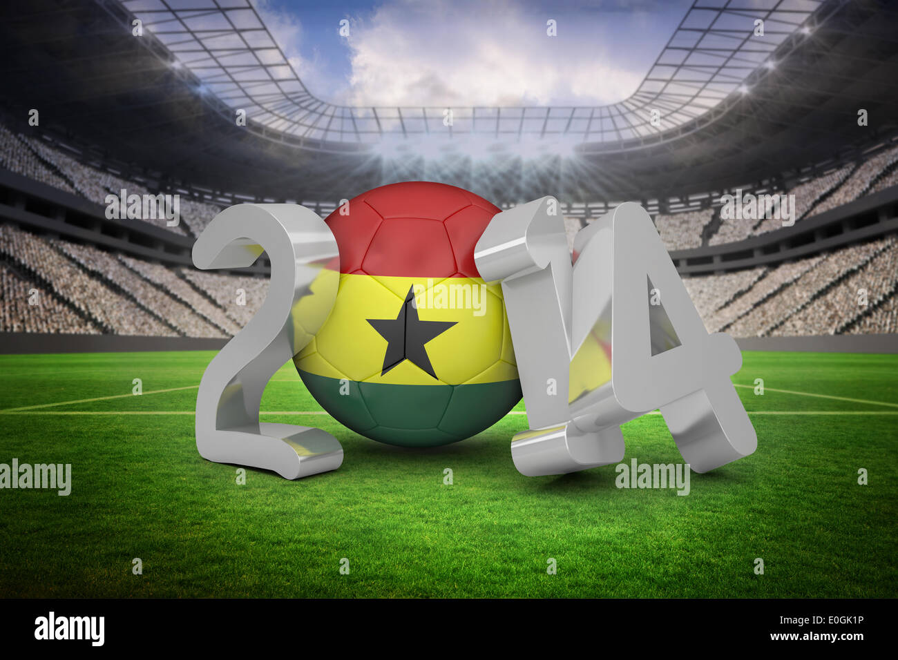 Ghana world cup 2014 message - Stock Image