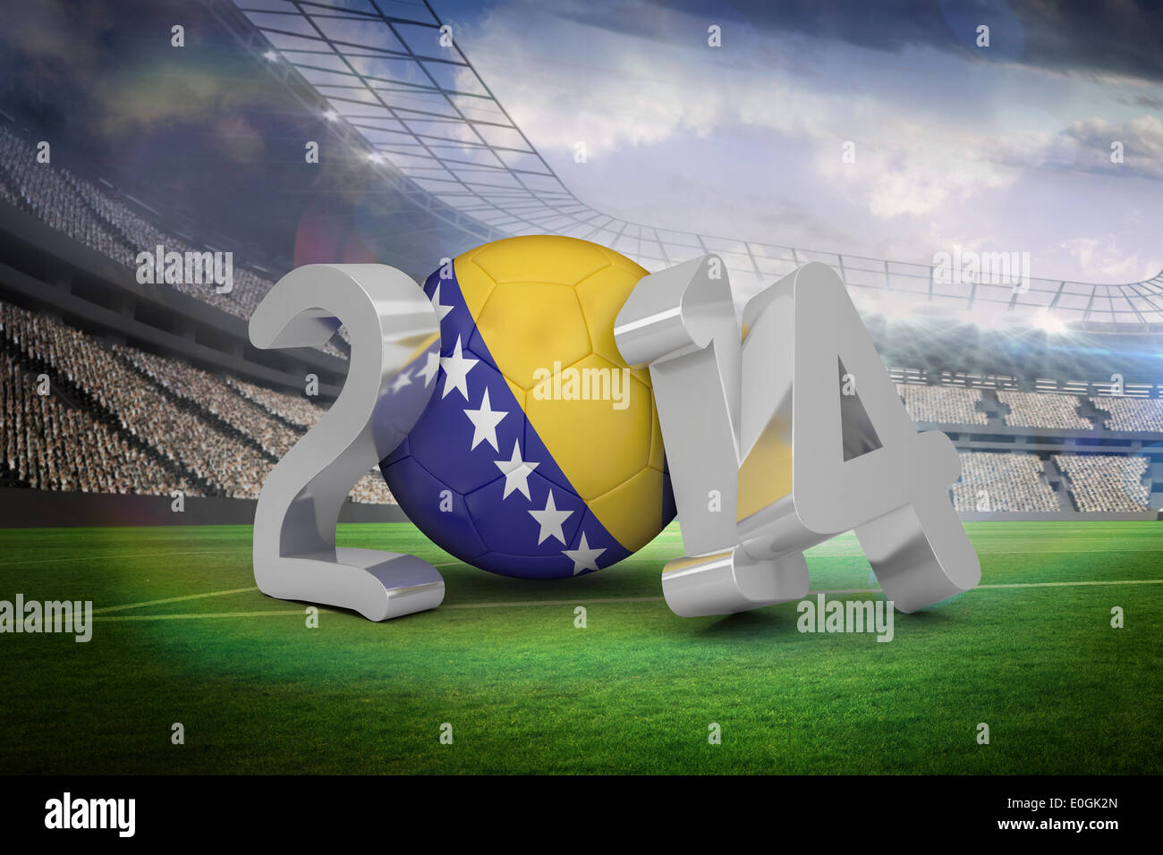 Bosnia world cup 2014 - Stock Image