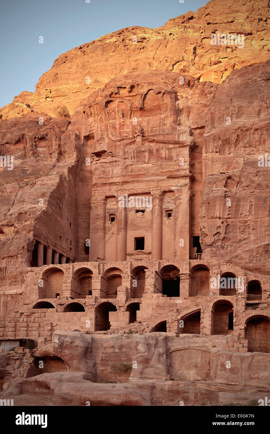 Urn Tomb, Royal Tombs at Petra, UNESCO world herritage, Wadi Musa, Jordan, Middle East, Asia - Stock Image