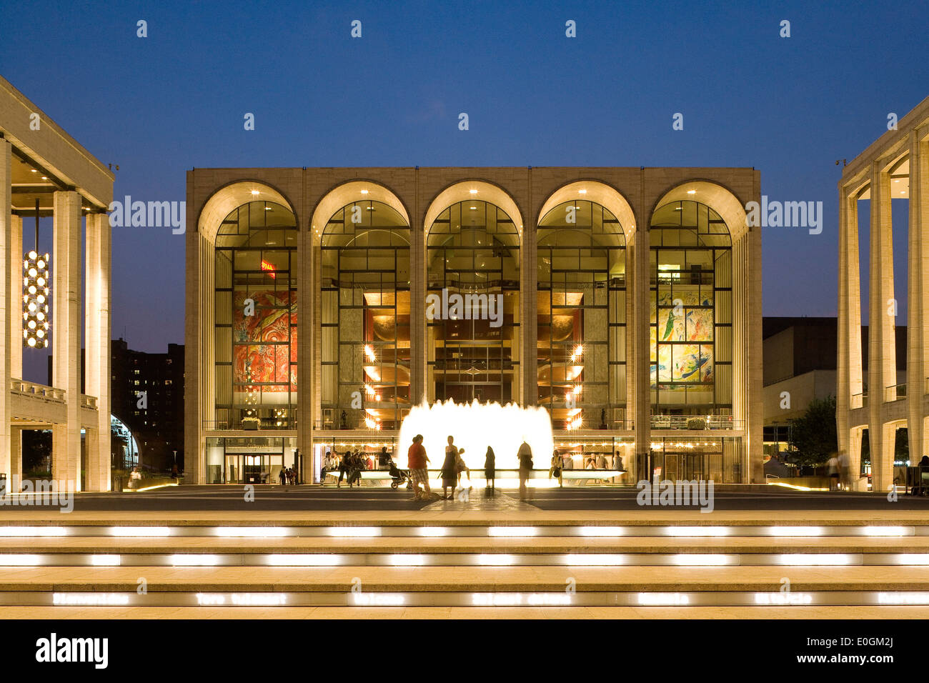 Metropolitan Opera House at Lincoln Center for the Performing Arts, Manhattan, New York City, New York, North America, USA - Stock Image