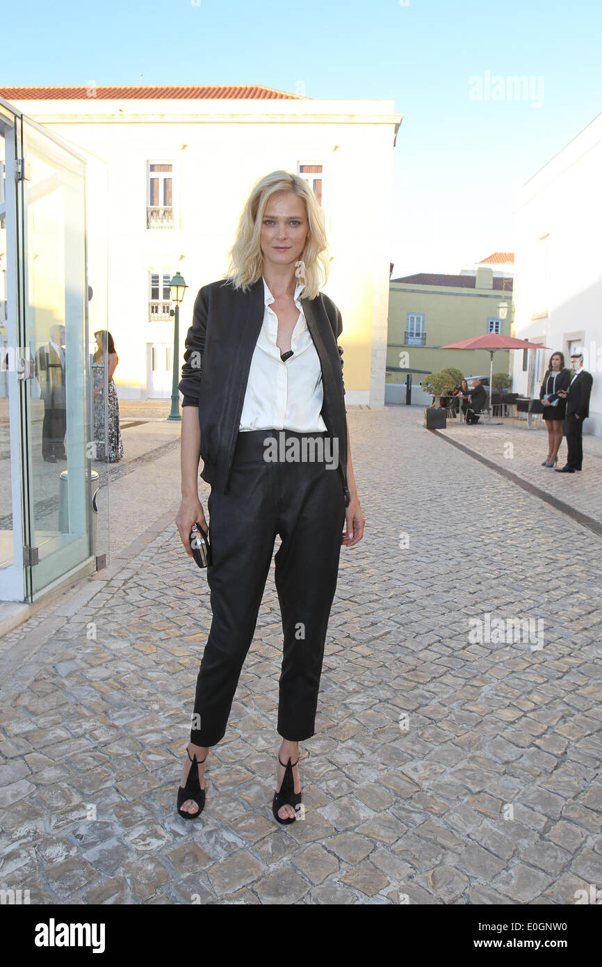 Cascais Village, Portugal. 11th May, 2014. Estonian model Carmen Kass arriving at Pousada de Cascais, Cascais Village in Portugal, for GQ Men of the Year Awards 2014. © images4/Alamy Live News - Stock Image