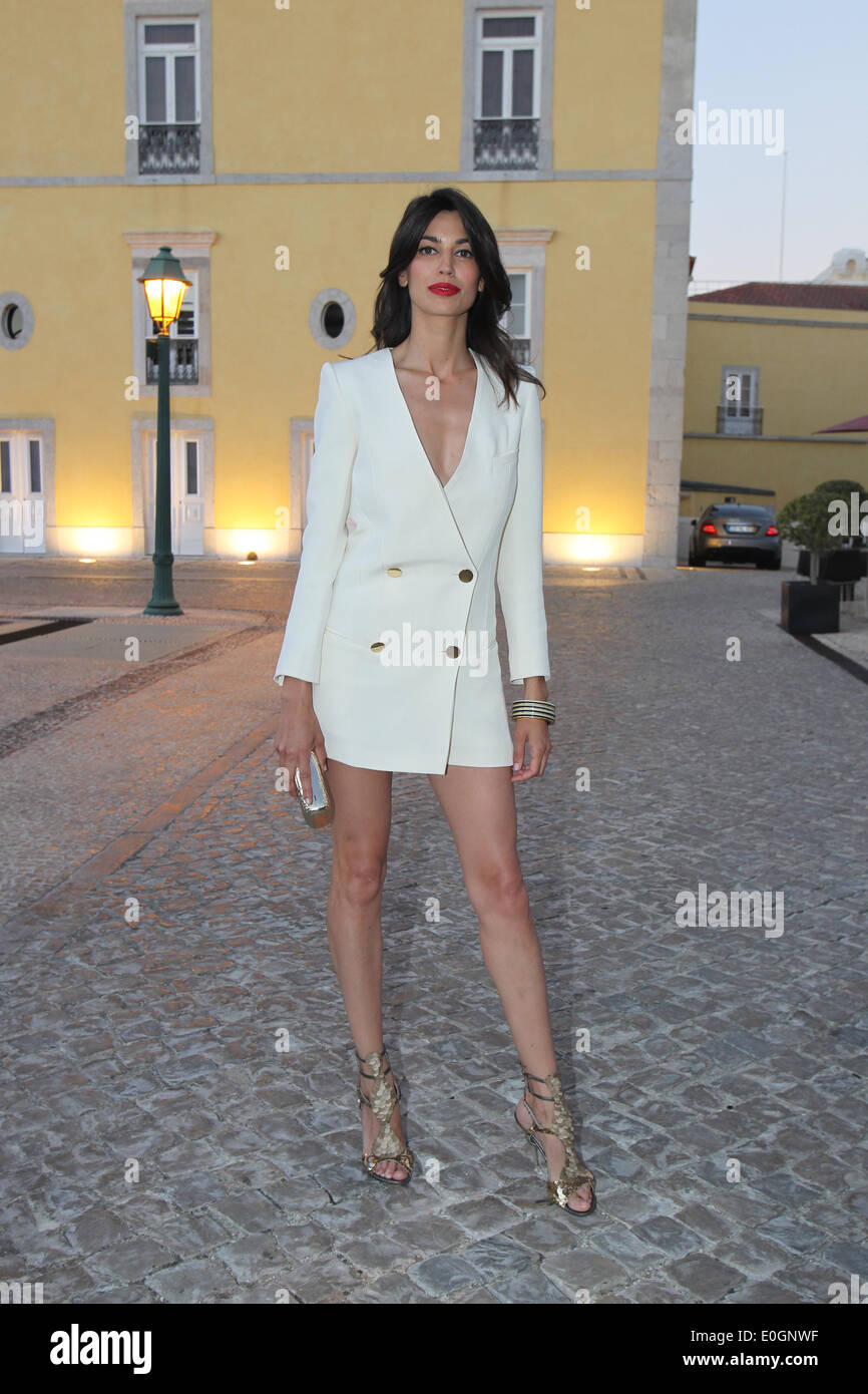 Cascais Village, Portugal. 11th May, 2014. Spanish model Davinia Pelegri arriving at Pousada de Cascais, Cascais Village in Portugal, for GQ Men of the Year Awards 2014. © images4/Alamy Live News - Stock Image