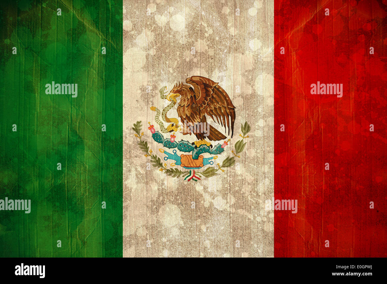 Mexico flag in grunge effect - Stock Image