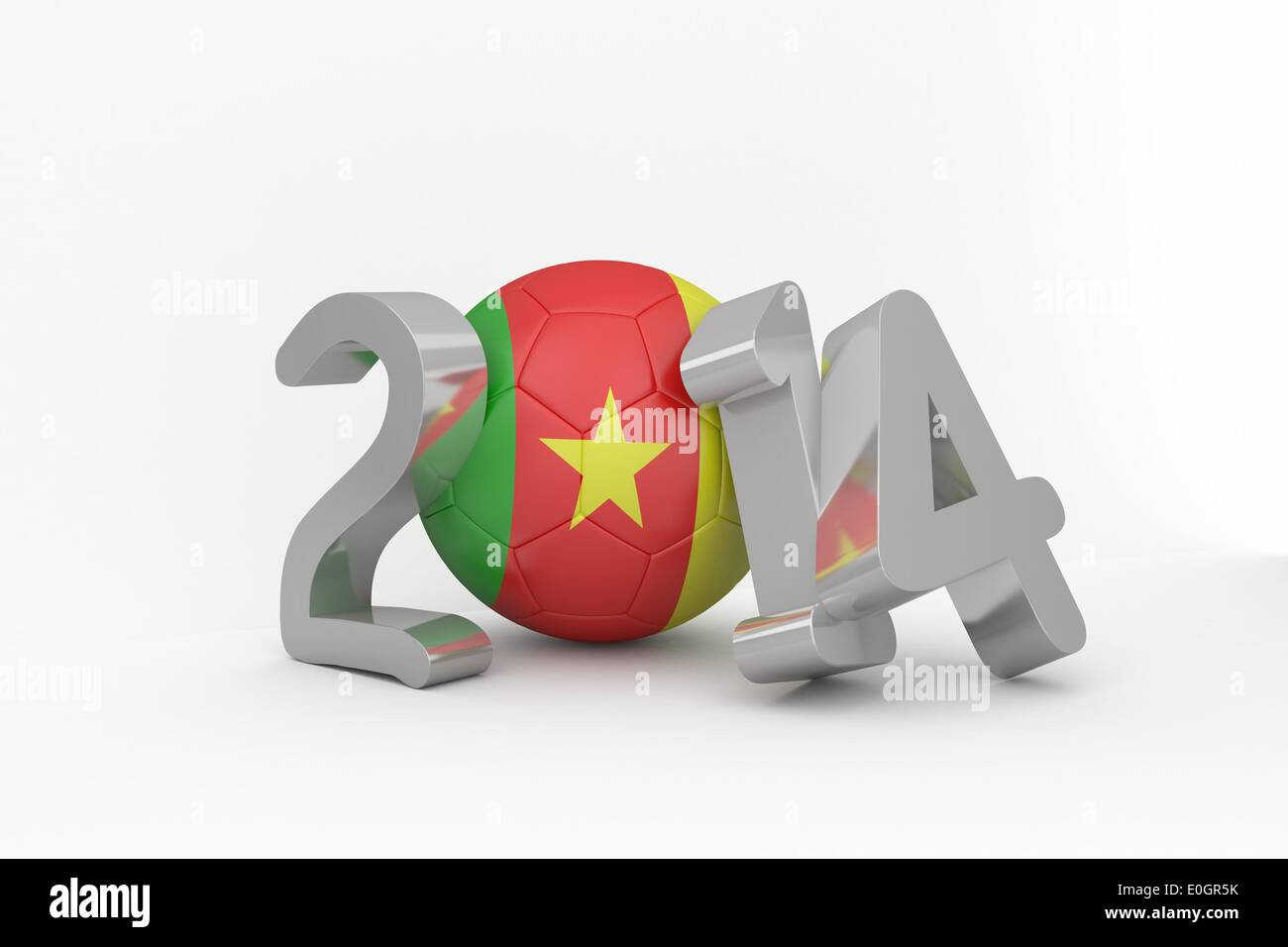 Cameroon world cup 2014 - Stock Image