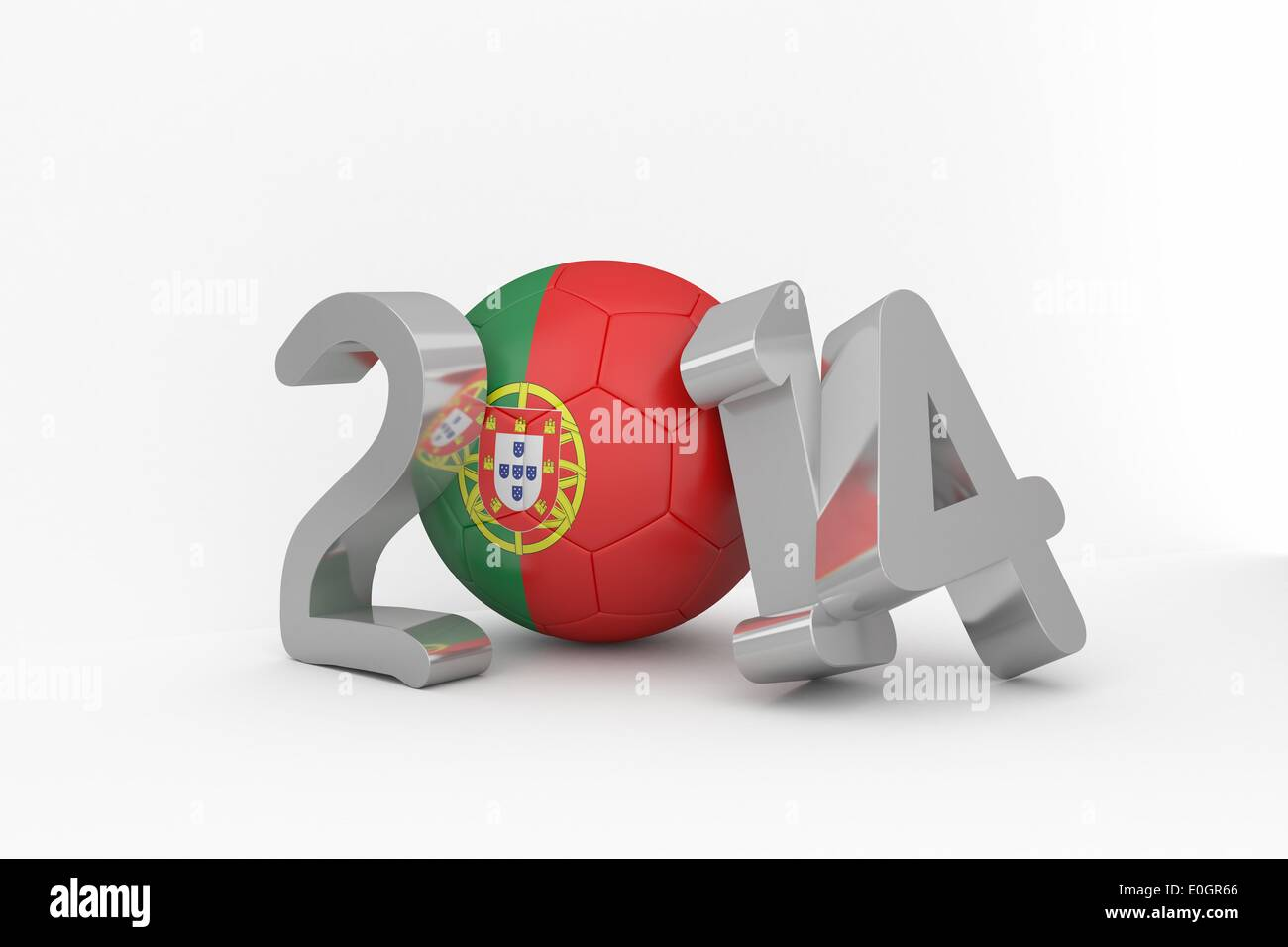 Portugal world cup 2014 - Stock Image