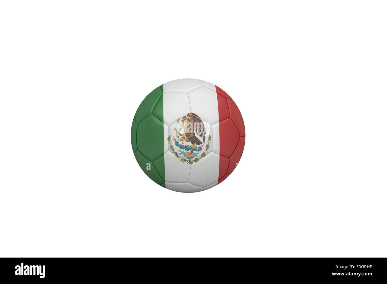 Football in mexico colours - Stock Image