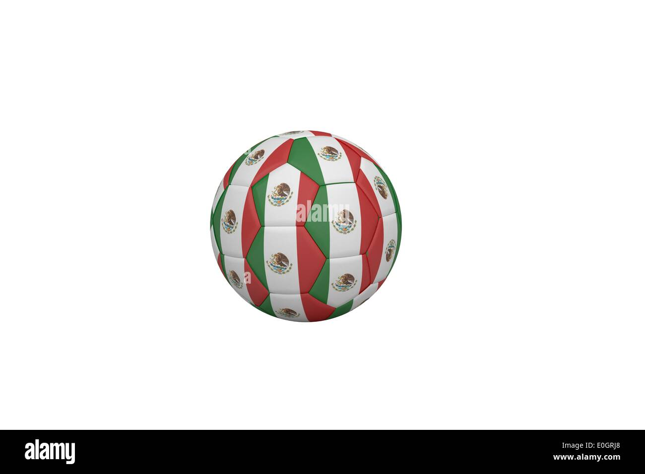 Football in mexico colours Stock Photo