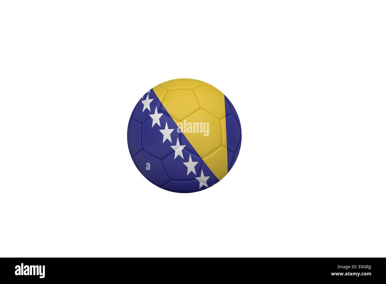 Football in bosnia and herzegovina colours - Stock Image