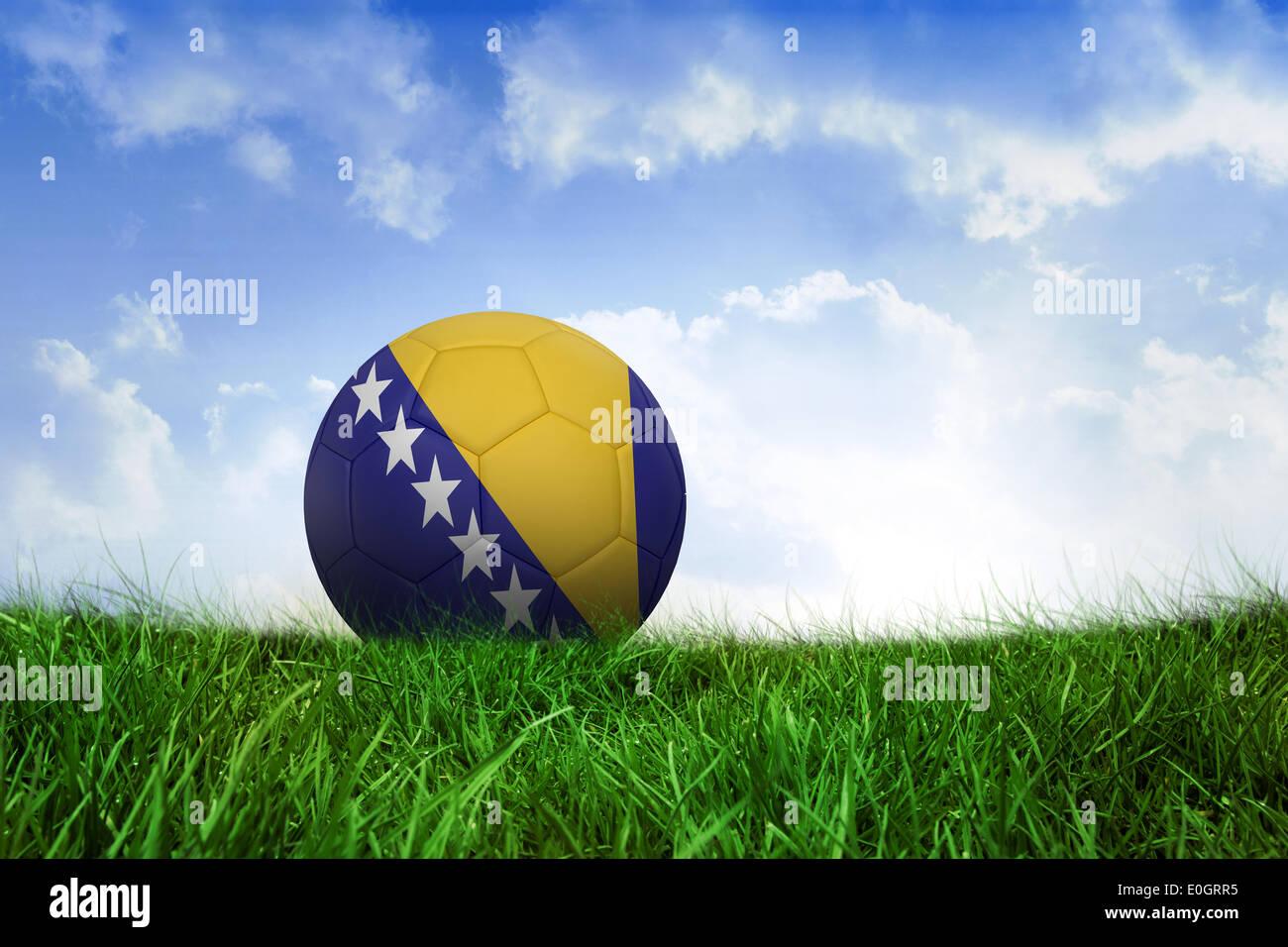 Football in bosnia and herzegovina colours - Stock Image