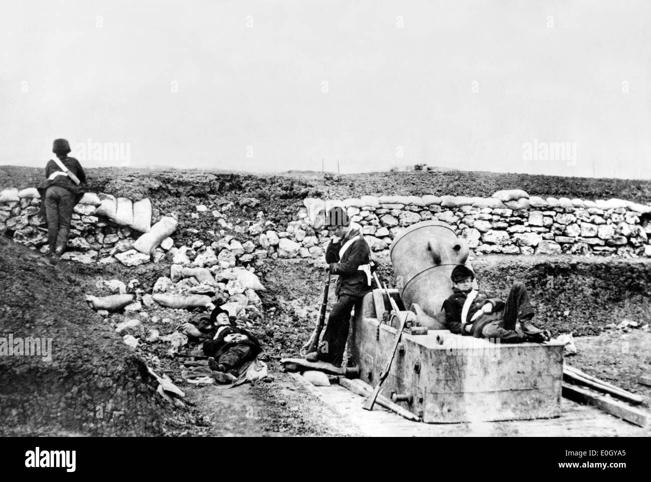 Soldiers during Crimean War - Stock Image