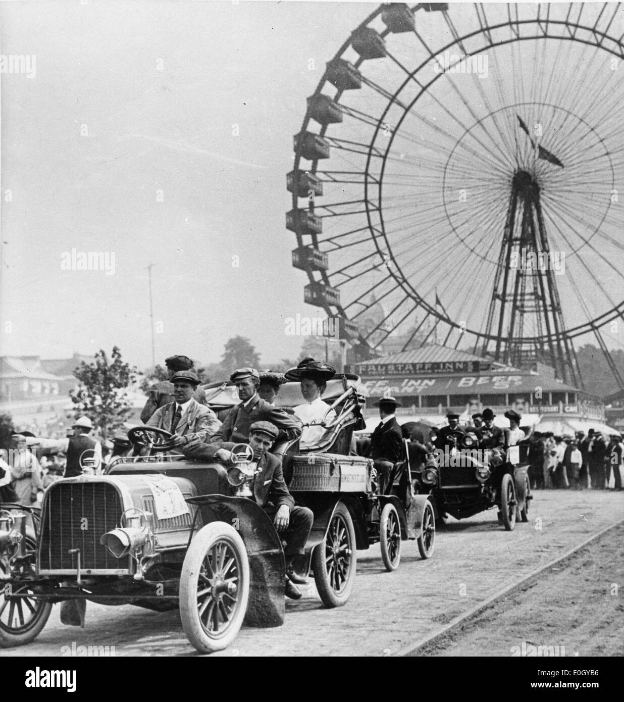 Automobile Parade during the St. Louis World's Fair - Stock Image