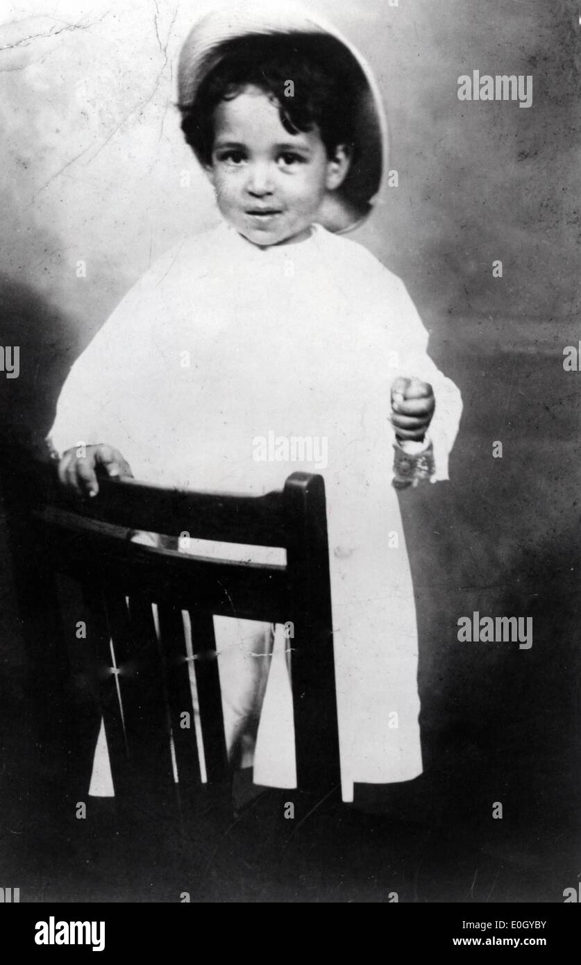 June 02, 1910 - Baltimore, Maryland, U.S. - File Photo: circa 1910. Half a century after the historic ruling in Brown v. Board of Education that overturned segregation in education, the US is marking 50 years of racial school integration. Two-year-old THURGOOD MARSHALL would go on to be the lead attorney in the Brown v. Board of Education case. - Stock Image