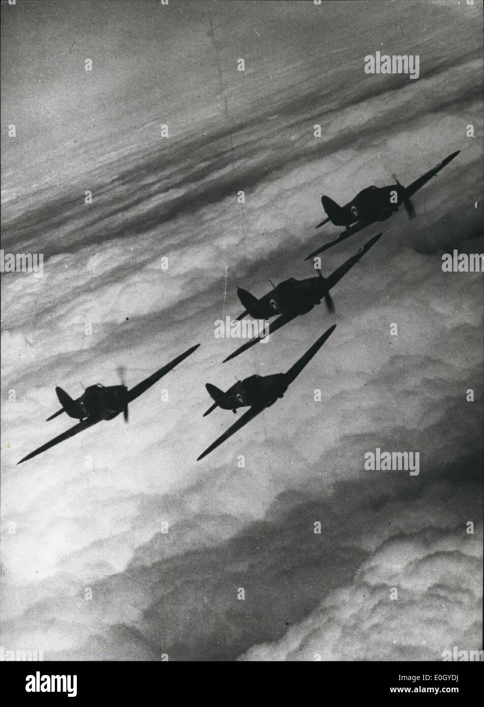 Jan 1, 1940 - A flight of Hawker Hurricane fighter planes. (exact date unknown) APRESS - Stock Image
