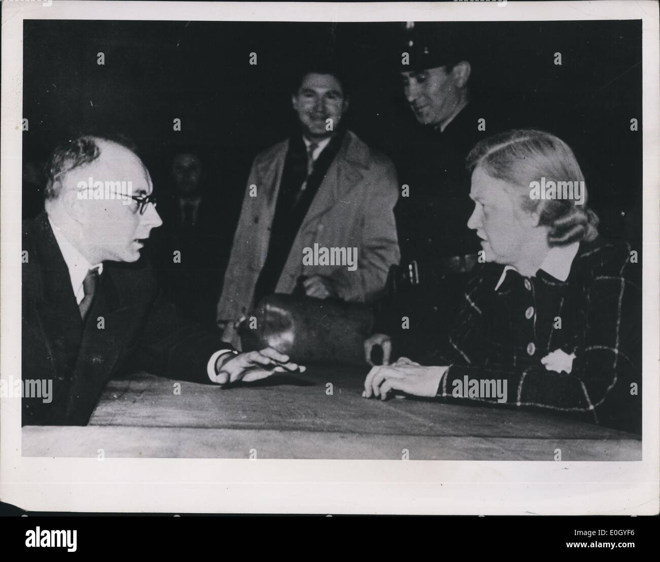 Jan 1, 1940 - Ilse Koch with counsel: Augsburg, Germany: The Beast of Buchenwald, Ilse Koch is seen with her counsel as the 2nd - Stock Image