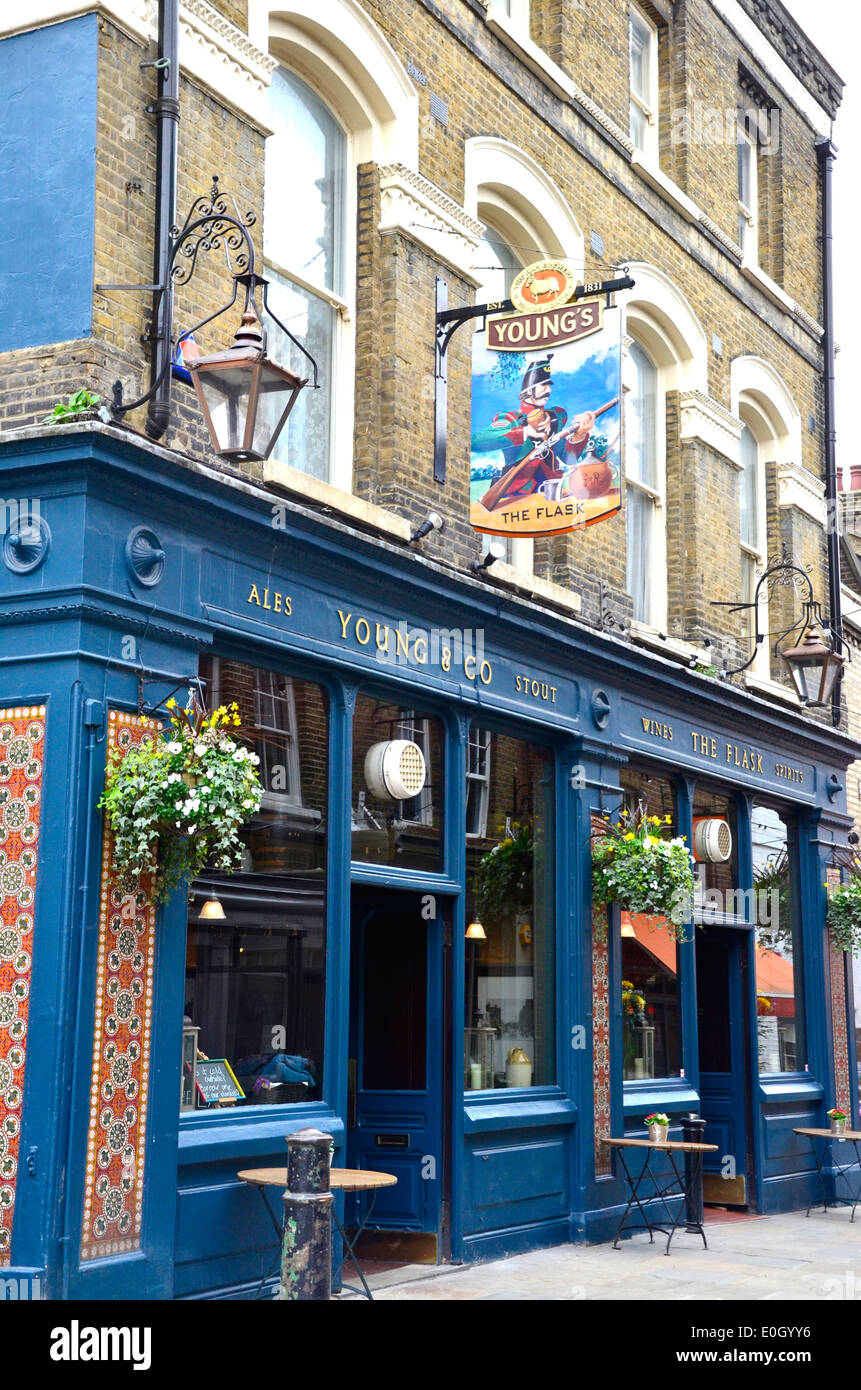The Flask pub, Hampstead, London, England - Stock Image