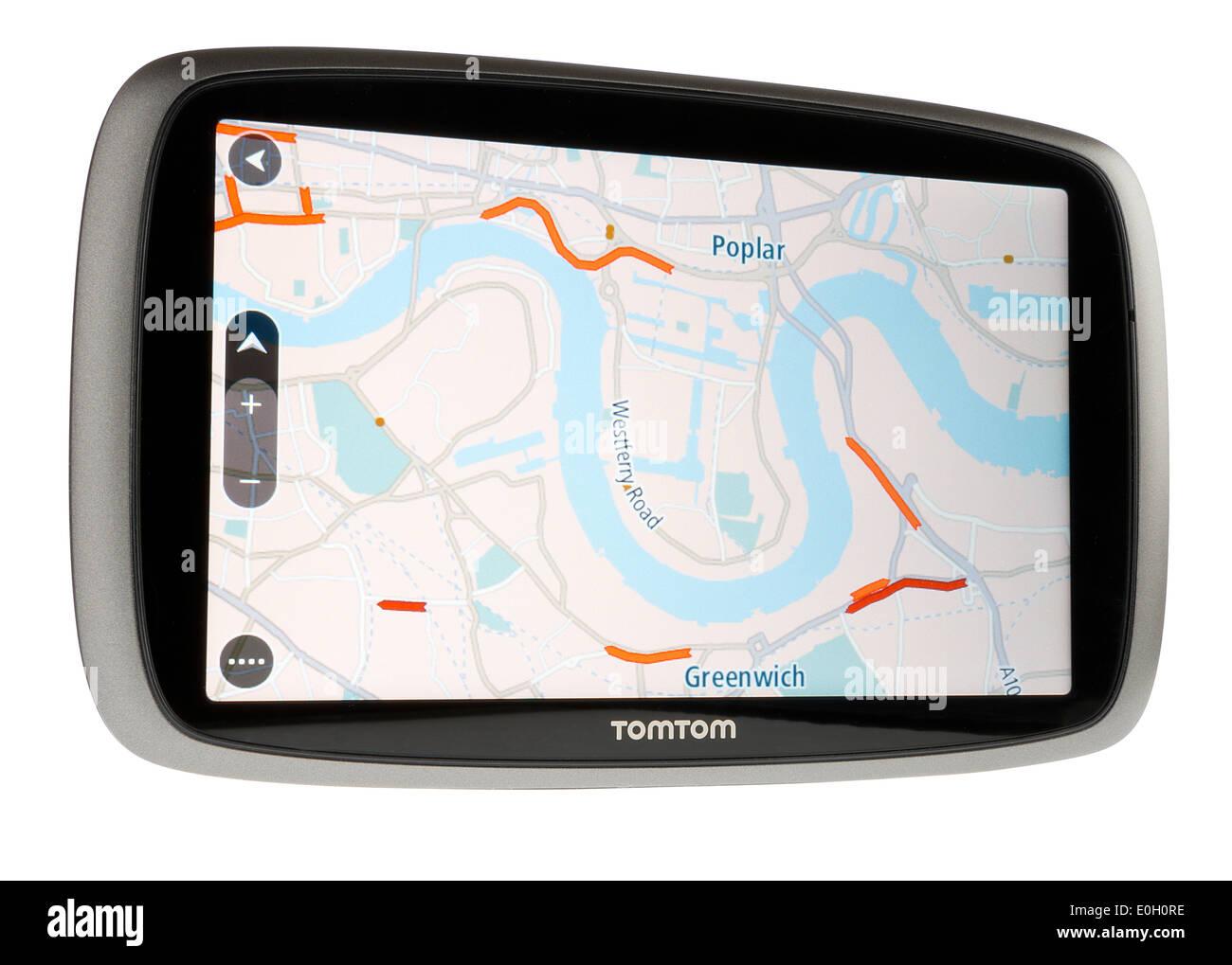 TomTom satellite navigation product - Stock Image