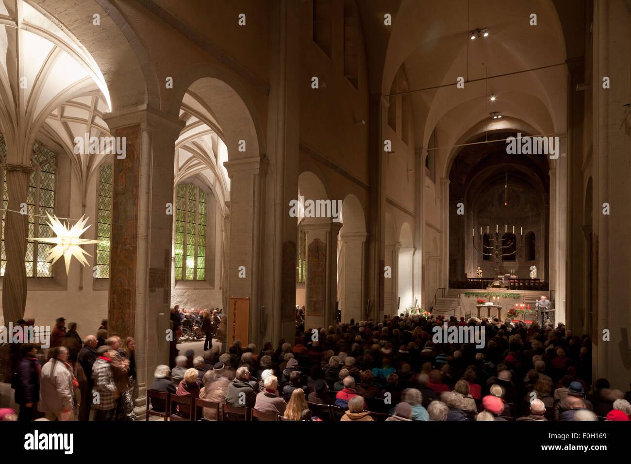 Brunswick cathedral, gothic style, Advent service, Burgplatz, Brunswick, Lower Saxony, Germany - Stock Image