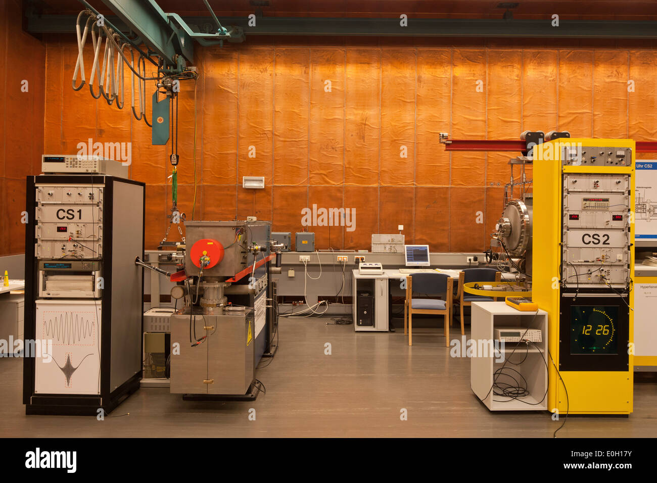Caesium atomic clocks from the PTB institute, Lower Saxony, Germany, Brunswick, Lower Saxony, Germany - Stock Image